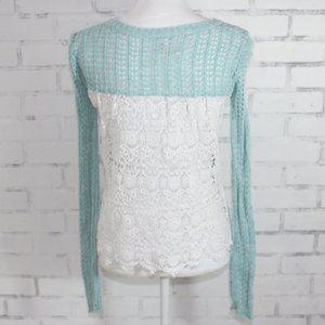 Aeropostale Crochet Back Sweater
